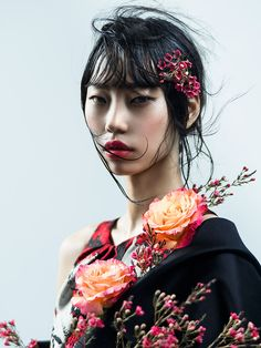 Hee Jung Park by Zhang Jingna | Phuong My SS17 #SS17 #Spring #flowers #asian #koreanmodel #beauty #portrait