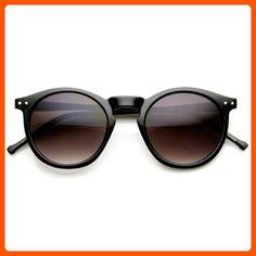 f0223d35ae0 zeroUV - Retro Horned Rim P3 Keyhole Round Horn Rimmed Sunglasses  (Shiny-Black Lavender