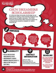 Undocumented #CSUN students...make sure to apply now for the #CSUN #Dreamers Scholarship now! #fall2014