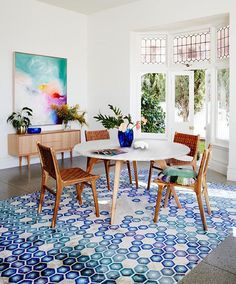 More loveliness from our new Spring Collection, if only the sun would hurry back! . Head to the website to shop the full collection... we still have some of our Woodrow dining tables and our leather strapping chairs available for pre-Xmas delivery ✌️ . Styling - @heathernetteking, photo - @armellehabib #fentonandfenton #mrfentonsrugs #woodrowrange #kristendaniels