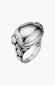 John Hardy 'Kali Silver' Medium Pebble Ring | Nordstrom