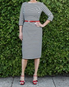McCall's 5975 Breton Striped Dress