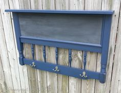 My Repurposed Life shows you how to make the repurposed headboard chalkboard coat rack. This handy and unique project will keep your busy family organized. - May 18 2019 at Old Headboard, Headboard Benches, Headboard Decor, Headboards, Ikea Furniture, Rustic Furniture, Furniture Makeover, Painted Furniture, Furniture Vintage