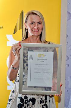 2013 PMR Diamond Arrow Award - Villa Maria Guest Lodge www.villamaria.co.za