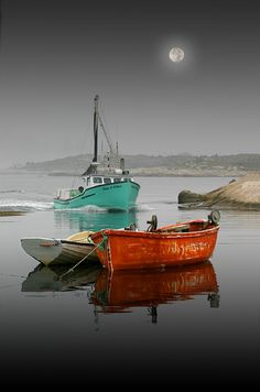 Peggy's Cove, Nova Scotia, Canada fishing boat in background. ***Wish I was there on that boat*** Boat Art, Am Meer, Jolie Photo, Small Boats, Wooden Boats, Water Crafts, Nova Scotia, Fishing Boats, Sport Fishing