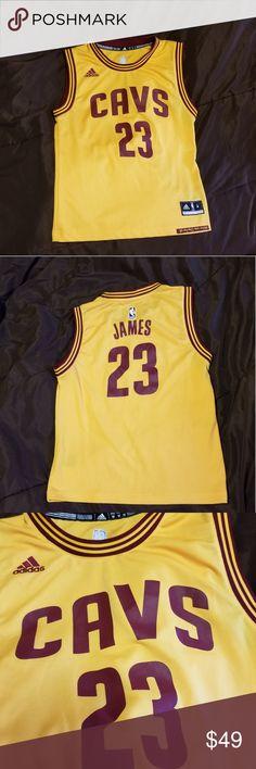 25e195d307e Lebron James NBA adidas youth Basketball Jersey Official NBA merchandise adidas  LeBron James Cleveland Cavaliers number