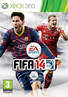 FIFA 14 cover for Switzerland (Swiss version). Featuring FC Bayern striker, Xherdan Shaqiri and Lionel messi.