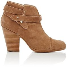 Rag & Bone Women's Harrow Ankle Boots (€210) ❤ liked on Polyvore featuring shoes, boots, ankle booties, ankle boots, brown, brown booties, brown suede booties, brown suede boots, suede bootie and short brown boots