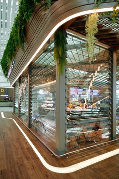 Terminal 2 Landmark Space, Incheon International Airport - South korea - by UNStudio   The Landmark Space in Terminal 2 creates a microclimate within the Incheon International Airport where passengers can eat, drink and find a moment of relaxation along their journey. #airport #architecture #architect #design #interior