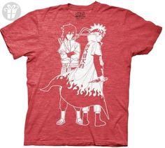 Naruto Shippuden Naruto & Sasuke Outline Men's T-shirt S (*Amazon Partner-Link)