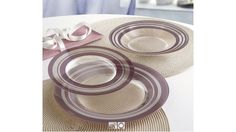 Vajillas Blue Loop y Purple Loop Home Deco, Plates, Purple, Tableware, Blog, Elegant Dinner Party, Fire Glass, Blue Nails, Shapes
