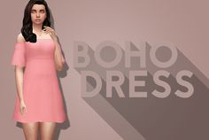 Sims 4 CC's - The Best: Boho Dress in 25 Recolors by SimlishSweetie