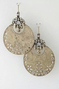 Love these! #Earrings #jewelry.  Very gypsy or middle eastern.
