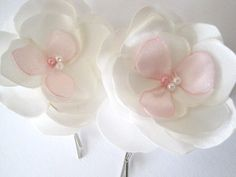 Alisha Garden Blossoms Handmade Pins by priya123 on Etsy, $15.00