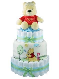 My 1st Pooh Bear Disney Diaper Cake