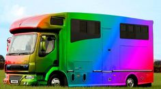 Helios Rainbow Horsebox by Kevin Parker Horsebox ltd