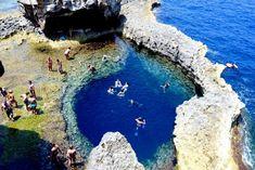 Natural pool, Azure window, Gozo.