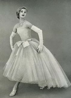 Christian Dior Evening gown,1956