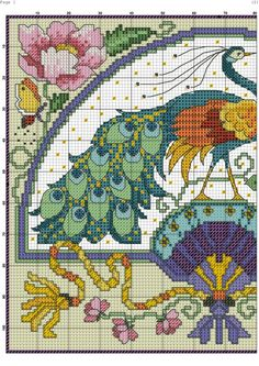 Gorgeous Peacock page 1 of 2 Cross Stitch Pillow, Cross Stitch Love, Counted Cross Stitch Patterns, Cross Stitch Charts, Cross Stitch Designs, Cross Stitch Embroidery, Swedish Weaving, Cross Stitch Collection, Cross Stitching