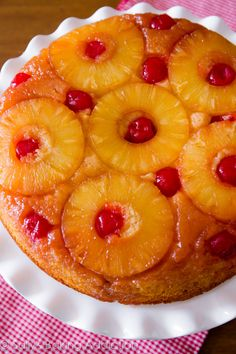 This is my favorite recipe for homemade classic Pineapple Upside-Down Cake. Super-moist and full of flavor!