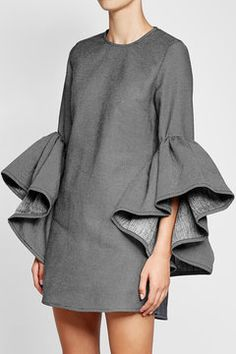 Twill Dress with Voluminous Sleeves   Marques' Almeida
