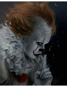 Pennywise y tu❤ - 🎈cap Evil Clowns, Scary Clowns, Creepy, Clown Horror, Arte Horror, Scary Movies, Horror Movies, Horror Villains, It Movie 2017 Cast