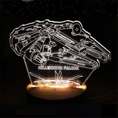 1pcs Classic 3D Star War Visual LED Light Wood Base USB Charging Buliding Lamp Acrylic Bedside Lamp Home Decor luminaria de mesa