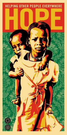 Hope For Darfur by Shepard Fairey THE WRITING IS ON THE WALL LITERALLY ITS END TIMES