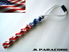 Team U.S.A. Paracord Rearview Mirror Ornament by JLParacordGear