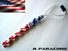 Team U.S.A. Paracord Rearview Mirror Ornament by JLParacordGear