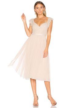 Needle & Thread Swan Dress in Petal Pink