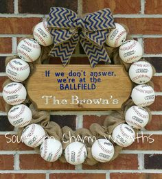 Baseball If we don't answer we're at the by southcharmwreaths