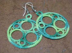 7 Circles Earrings Pattern In Pdf Format On The Bottom Of Pic Crochet