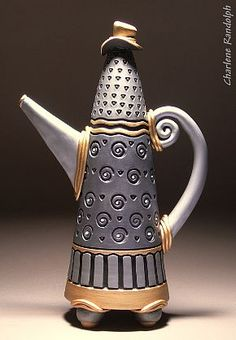 Charlene Randolph. Tall Designer Teapot,