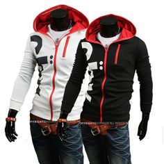 Free Shipping Stylish letters printed Men Slim Hooded sweater  US Size:XS,S,M,L       0221-in Hoodies & Sweatshirts from Apparel & Accessori...