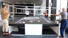 """An industrial complex ""ZapSibNefteHim"" in Tobolsk"".Scale is 1: 600  The workers are fitting a carcass on the architectural model.  Производственный комплекс ""ЗапСибНефтеХим"" в г.Тобольск масштаб: 1:600 На фото: примерка каркаса колпака на архитектурный макет. #scale #architecture #miniature #diorama #scalemodels #scaledesign #workshop #креатив #architectural models #modeling #creative"
