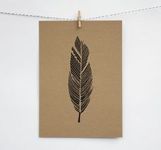 black feather print / etsy $15