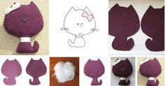 DIY gifts. handmade felt cat toy