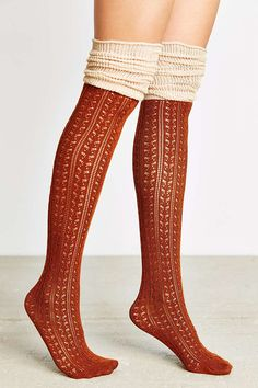 5af7d0b169f Tonal Scrunchy Over-The-Knee Sock - Urban Outfitters Boot Socks