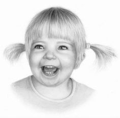 Drawing Portrait Baby 36 New Ideas Art Drawings Sketches, Cool Sketches, Cool Drawings, Pencil Drawings, Artwork Drawings, Pencil Art, Toddler Portraits, Baby Portraits, Colouring Pics