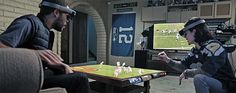 microsoft shared a glimpse of the future of sports viewership with a concept video on how technology could shape the next 50 years of american football. with the 'hololens', sports fans can extend the experience of watching a game beyond existing screens with mix reality interactions that showcase player states, and instant replays directly on a coffee table.