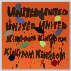 United United Kingdom Kingdom 2016 120 x 120cm acrylic, patches, thread on double stretched fabric