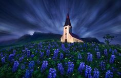"""Forever Strong - edit: I just launched my <a href=""""https://www.facebook.com/pages/Max-Rive-Photography/182378168614600?fref=ts"""" rel=""""nofollow"""">'Facebook Page</a>  Church of Vik.   1 long exposure for the sky 1 short exposure for the foreground"""