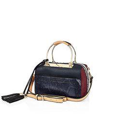 Blue metal frame bowler handbag - shopper / tote bags - bags / purses - women