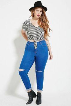 Pegue carona nas nossas sugestões de look com jeans de cintura alta
