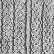left: Slipped Cable Rib right: Mock Gull Stitch