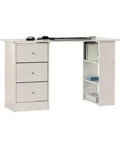 New Malibu 3 Drawer Desk - White.