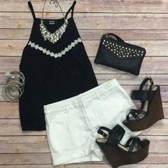 Venetian Shorts: White