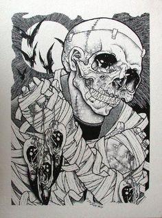 Risultati immagini per pushead art metallica Arte Punk, Punk Art, Metallica, Sparrow Art, Metal Tattoo, Skate Art, Creepy Art, Skateboard Art, Skull And Bones