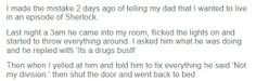 I've been looking for this story again! Episode of Sherlock drugs bust story
